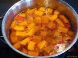 einfache Kuerbissuppe