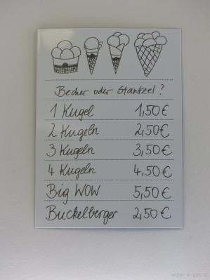 Preise Eis-Greissler