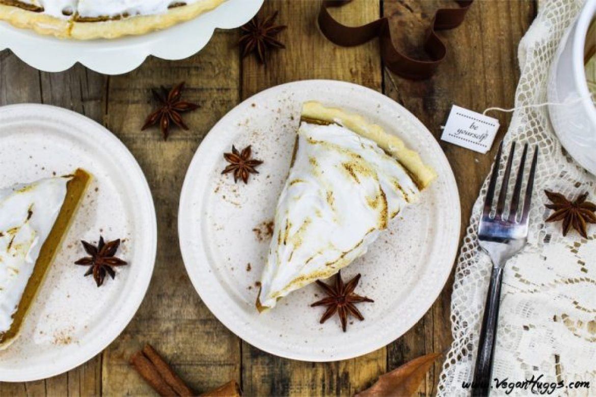 Put a little twist on tradition with this Vegan Pumpkin Meringue Pie. It's creamy, dreamy and gorgeous! It's so easy to make & calls for simple ingredients, too.