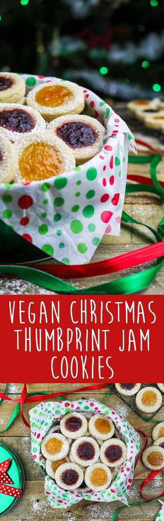 It's not the holidays unless there's some jam-filled Vegan Thumbprint Cookies floating around. The combination of delicious jam, melt-in-your-mouth shortbread, and sweet powdered sugar will help you bring on the holiday spirit!