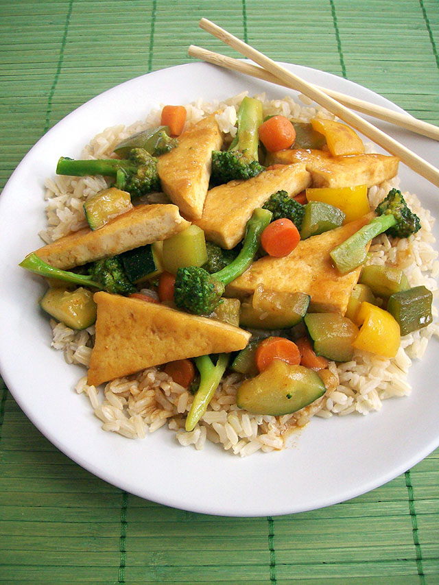 Sweet and Spicy Tofu Stir-Fry