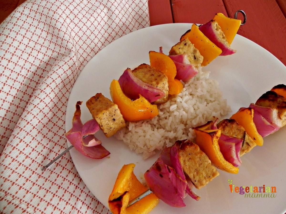 Greek Tempeh Kabobs – #glutenfree #vegan