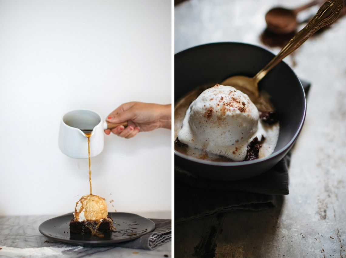 Drownie (Brownie Affogato)