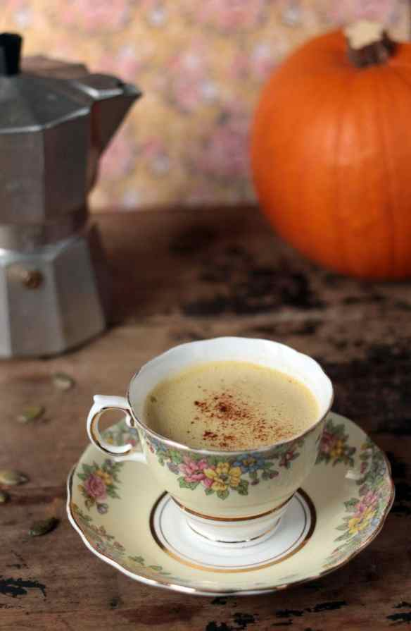 Pumpkin Spice Latte with Pumpkin Seed Milk | Veggie Desserts