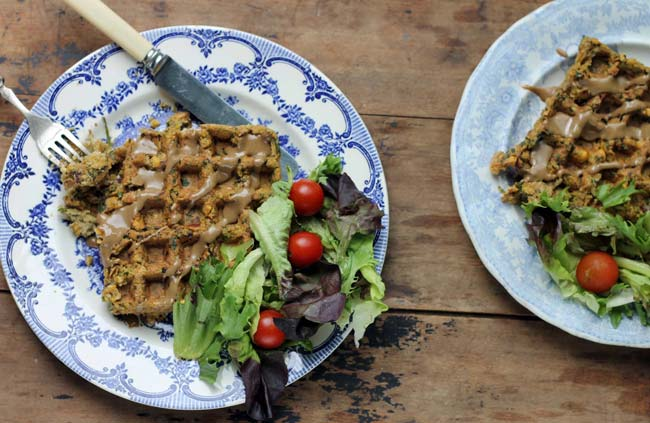 Falafel Waffles! You can waffle falafels. All that crispiness, without the oil. A soft, flavoursome, spiced falafel that's nice and big . Vegan. | Veggie Desserts Blog