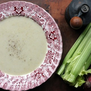 Celery Apple and Blue Cheese Soup | Thermocook - Thermomix Recipe | Veggie Desserts Blog