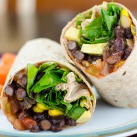 Black Bean Wrap - Quick and Easy Lunch
