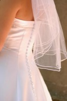 Elbow length veil can be a waist length veil