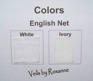 colors of English net veils