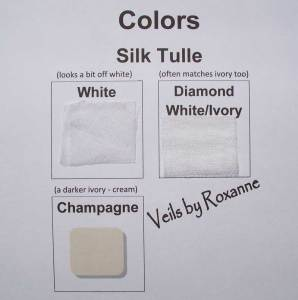 colors of silk tulle veils