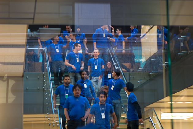 Apple staff at iPhone 4 launch