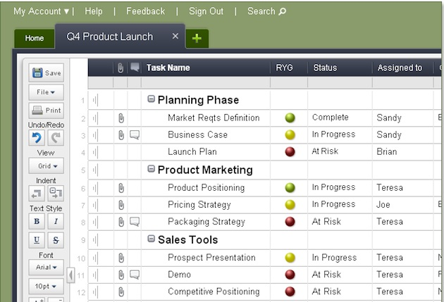 smartsheet project management