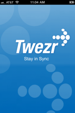 twezr app screen