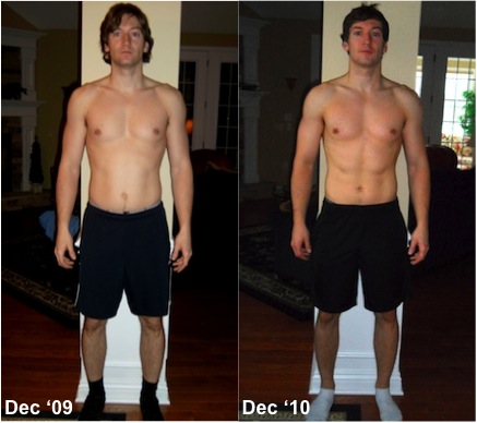 Gain Fitness's Nick Gammell before and after