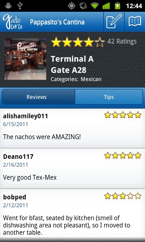 GateGuru Terminal Page