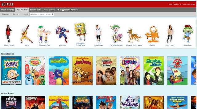 netflix kids section