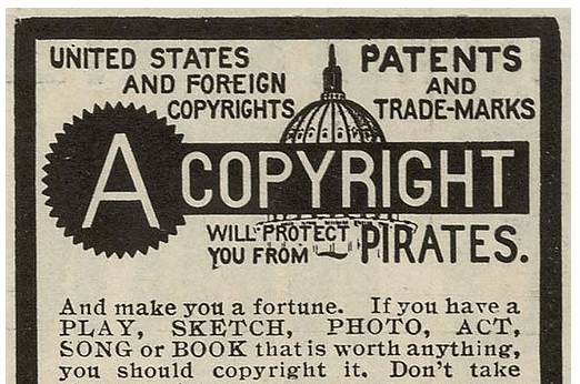 old school copyright flyer