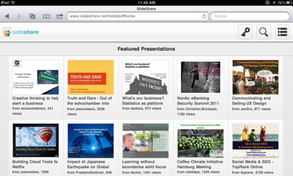 Slideshare-iPad