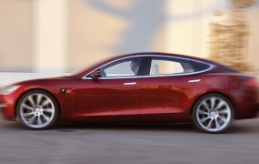Tesla Model S Alpha build. Photo courtesy GreenCarReports