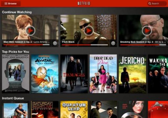 Netflix, Android Interface