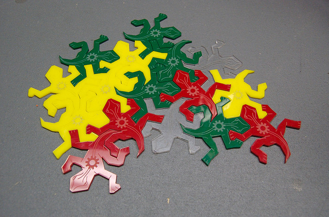 Escher Lizards Pattern Matching