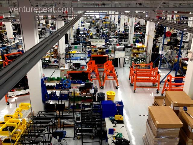 Tesla Shop Floor Wide