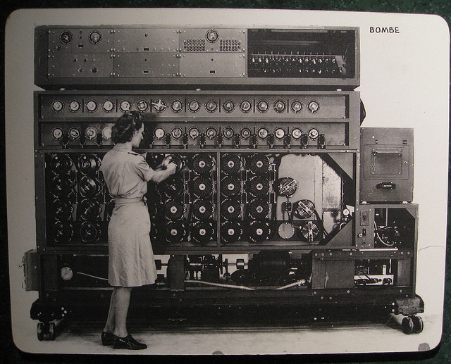 Code-breaking computer, the Bombe, used in World War II