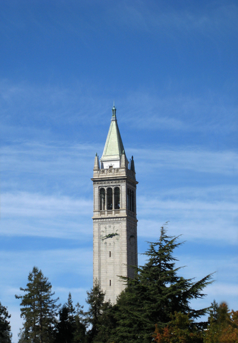 Photo of UC Berkeley campanile tower from Shutterstock