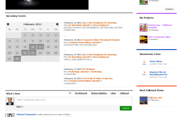 Blaze homepage screenshot