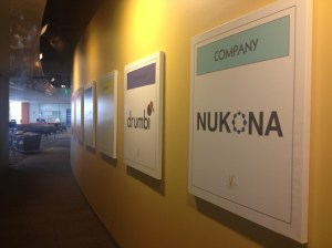 Nukona sign at the Citrix Startup Accelerator