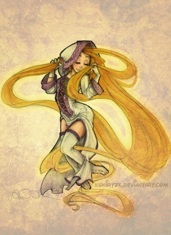White Mage Rapunzel Disney Final Fantasy X-2 Princess Dressphere