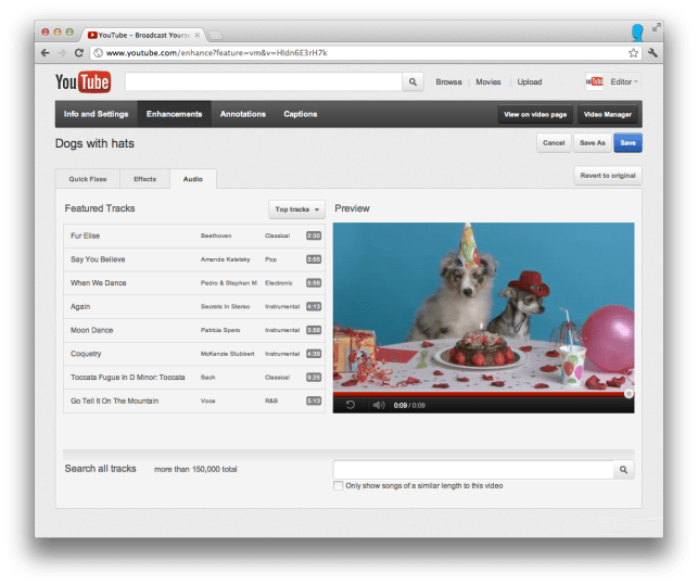 YouTube-screen