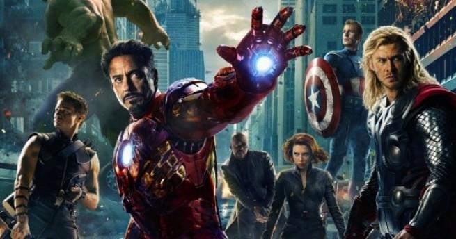 The Avengers movie poster, Hulk punch Thor