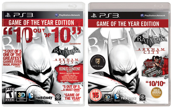 Batman Arkham City GotYs