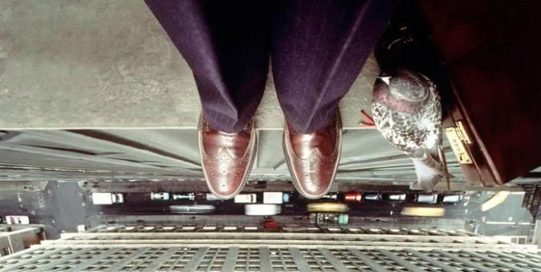 Businessman on the ledge 1996