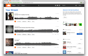 Soundcloud NEXT web app