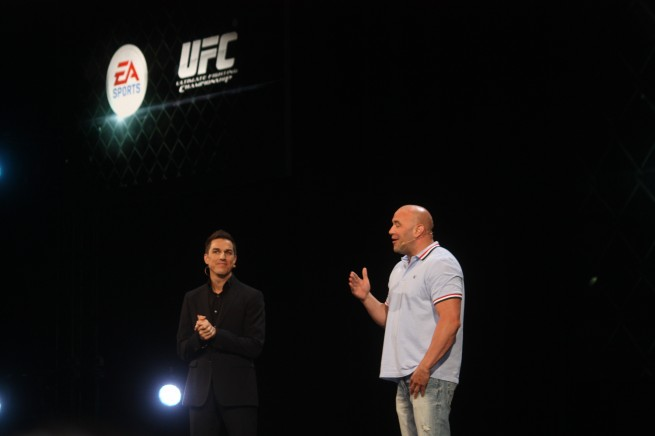 Andrew Wilson with UFC boss Dana White.