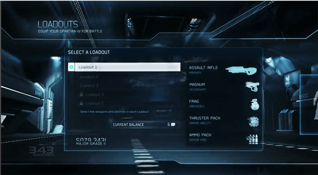 Loadouts in Halo 4