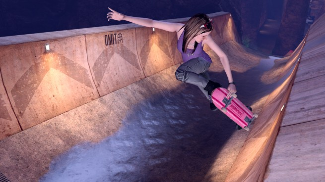 A lady skater in THPS HD