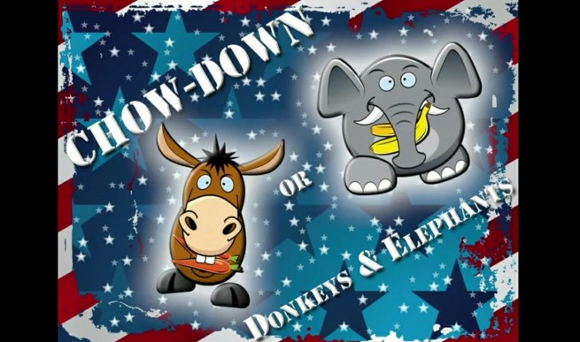 Donkeys and Elephants: Chow Down Kickstarter