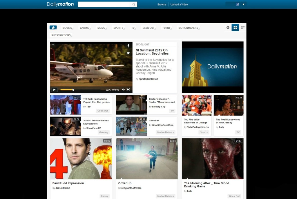 Dailymotion redesign