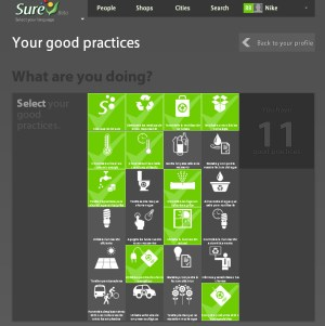 sure sustainable reference screenshot