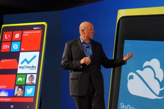 Steve Ballmer at the Windows Phone 8 launch event