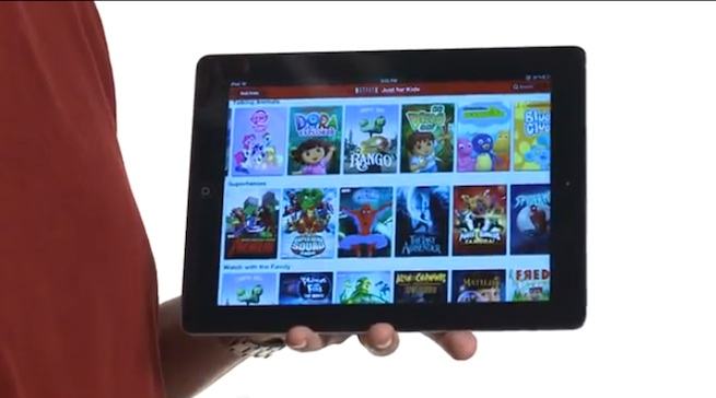 Netflix ipad Kids UI