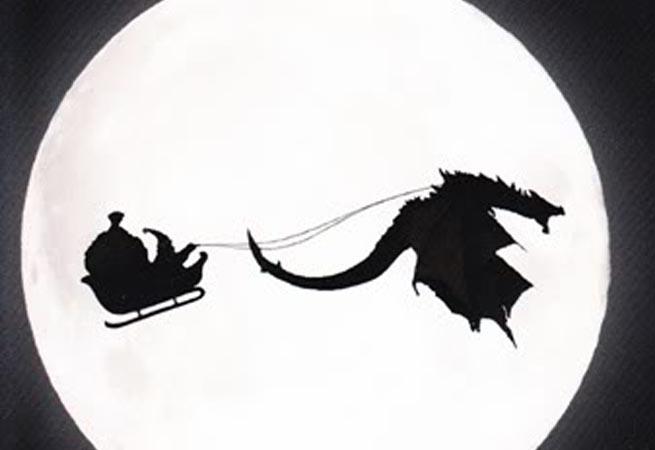 Video game Christmas card