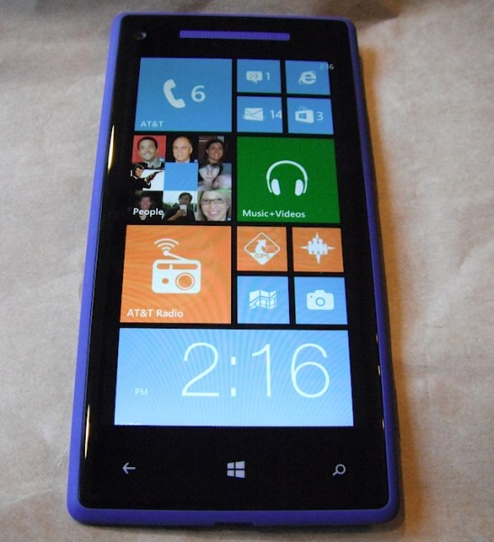HTC Windows Phone 8X, running Windows Phone 8