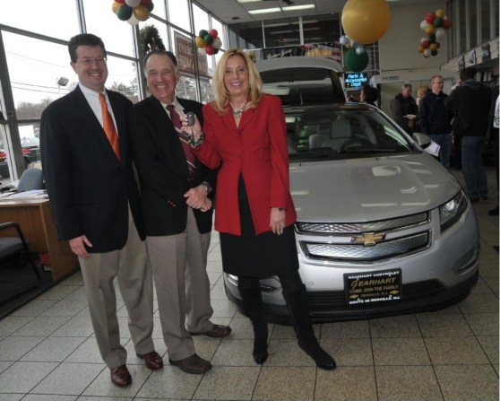 The first U.S. buyer of a Chevy Volt takes possession of his car in 2011