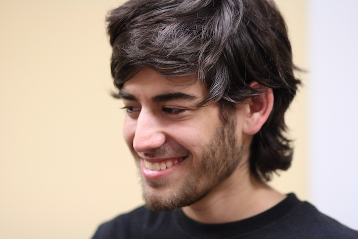 Photo of Aaron Swartz, web pioneer and Internet activist