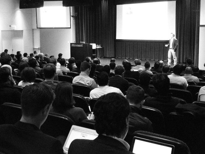 At Alchemist's packed Demo Day in Silicon Valley, Calif.