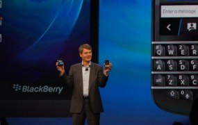 BlackBerry CEO Thorsten Heins at the BB 10 launch.